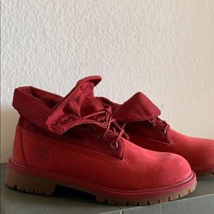 Timberland Red Suede Boots